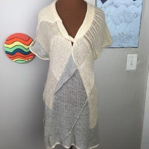 FAR AWAY FROM CLOSE Anthropologie wool sweater